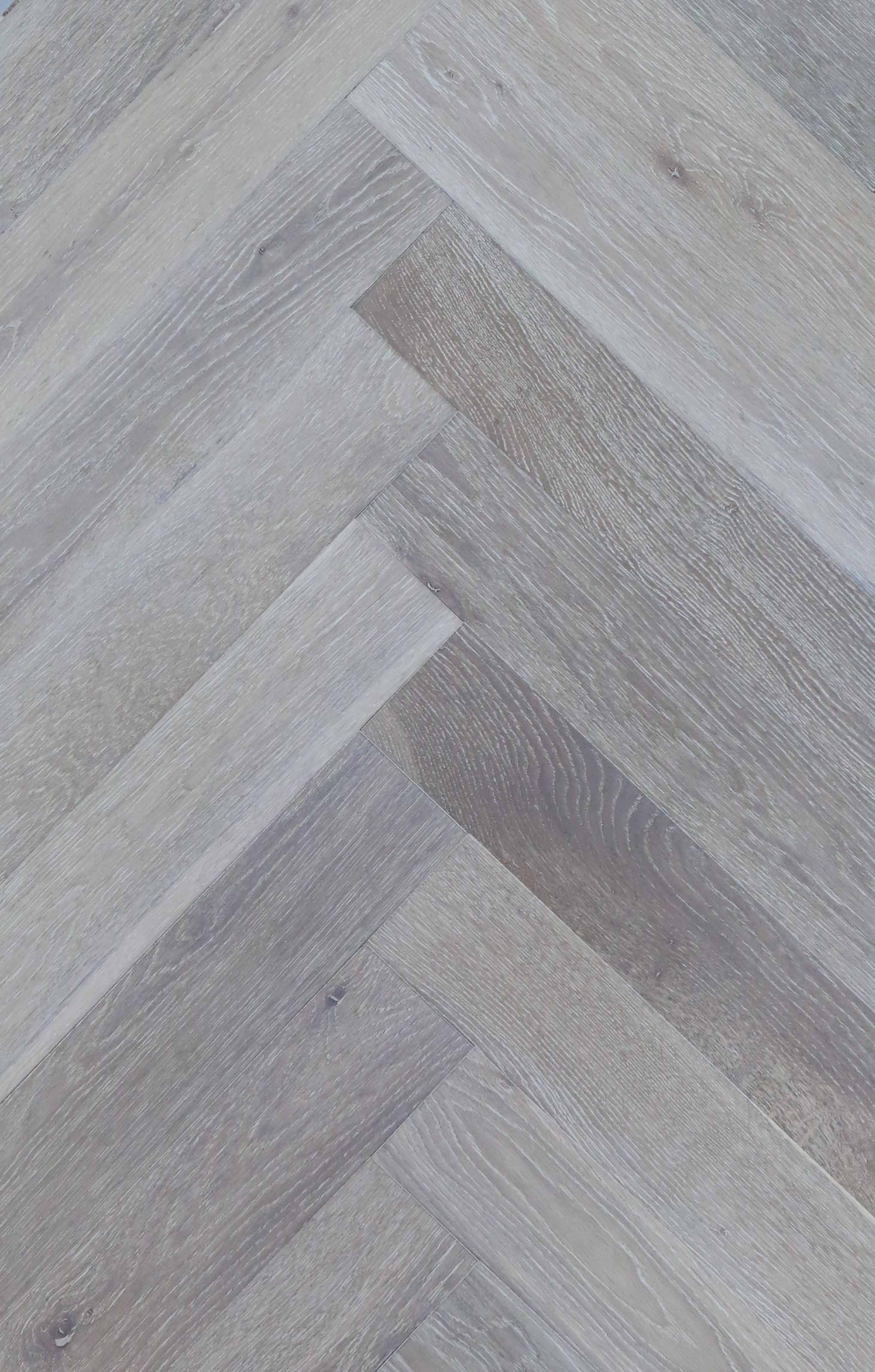 Herringbone Grey Wash Style Timber Floor