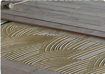 Trowel glue down installation